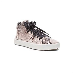 Rag-Bone Kent High-Top Snakeskin Sneakers 8/38